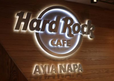 Hard Rock Caffe signage