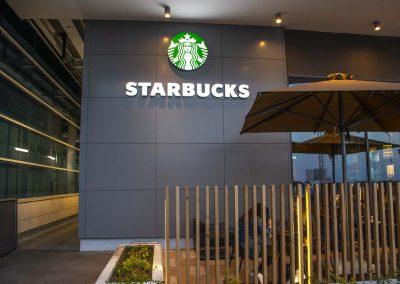 Starbucks signage