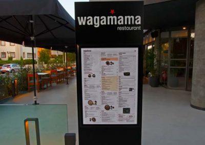 Wagamama menu stand