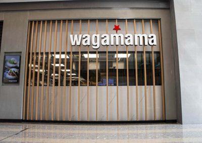 Wagamama signage custom