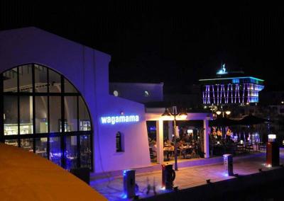 Wagamama illuminated sign