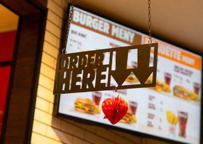 Interior Signs Burger King